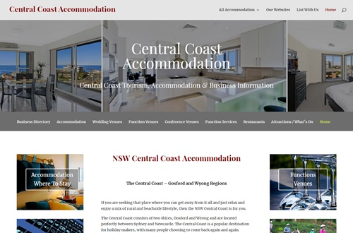 Central Coast Accommodation Business Advertising