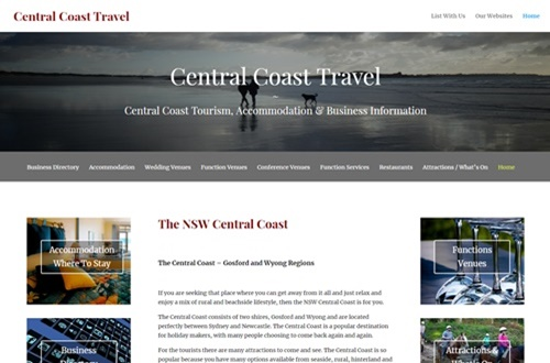 Central Coast Travel Business Advertising