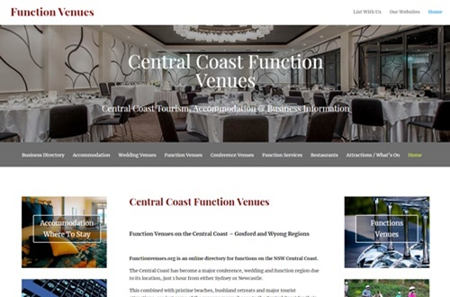 Central Coast Function Venue Business Advertising
